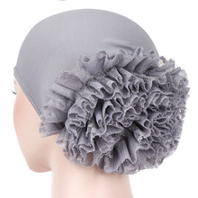 Muslim Fashion Women #8217 s Hijabs Muslim Headscarf Pile Heap Cap Women Soft Comfortable Hijab Caps Islamic Chemotherapy Hat cheap CN(Origin) Inner Hijabs Cotton Adult Appliques Knitted czx18-22 Winter spring summer autumn