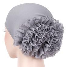 Muslim Fashion Womens Hijabs Muslim Headscarf Pile Heap Cap Women Soft Comfortable Hijab Caps Islamic Chemotherapy Hat
