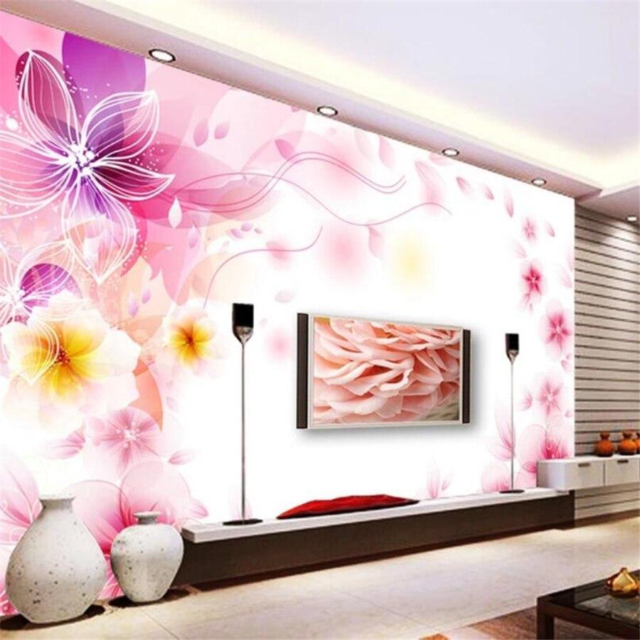 Wellyu Custom Photo Wallpaper 3d Large Murals Обои Dream Flower Lily Living Room TV Background Wall Papel De Parede 3d Wallpaper