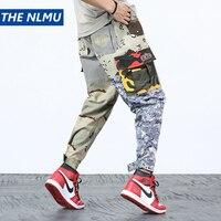 Harajuku Patchwork Cargo Pants Men's Hip Hop Streetwear Jogger Pant Elastic Waist Casual Camouflage Track Trousers 2018 WS260