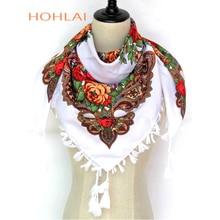 b247278f2500 Nouvelle Vente Chaude Russie Wquare Mode écharpe décorative pompom fait  main fleur conception Foulards Couverture Châle
