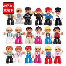10pcs Big Size Building Blocks duploe Family Worker Police Figure Toys For Kids Christmas Gift