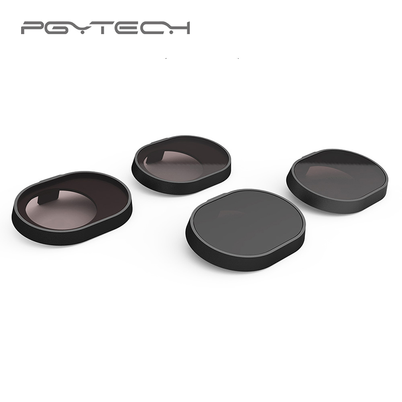 PGYTECH Lens Filters 4pcs/Set (ND4 ND8 ND16 ND32) for DJI Spark Drone Accessories HD Filter for Spark Quadcopter sunnylife dji spark gimbal camera lens filter combo nd4 nd8 nd16 nd32 mcuv cpl for hd clear lens filte for dji spark drone