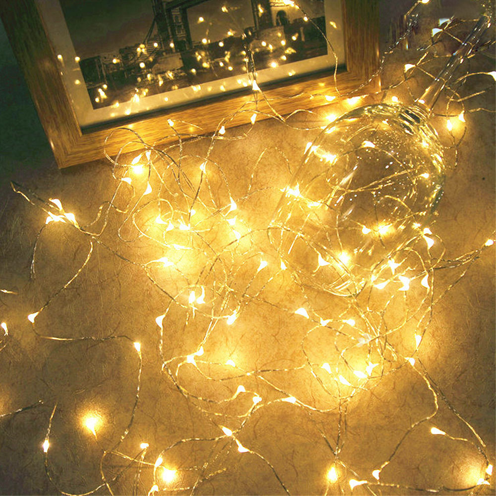 AGM 2M 20 LED Fairy Lights Copper Wire String Light Outdoor Christmas Wedding Party Decorative Garland String Twinkle Lighting