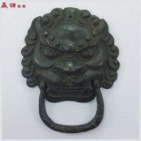 160mm Door Handle Chinese Antique Door Knocker Copper Handl Shoutou Lionhead Antique Architectural Decoration