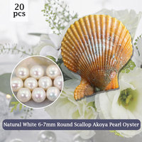 Pure Whiteness Bead in Scallop Oyster 7 8mm Real Pearl Natural White,20pcs Vacuum Packing Free Shipping DIY Gift for Girl PJW290