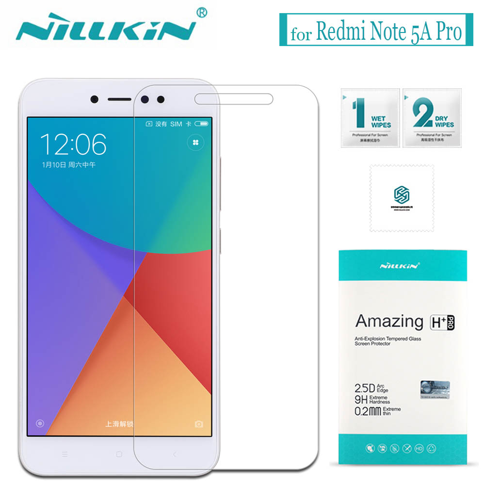 Nilkin pour Xiaomi Redmi Note 5A Premier Écran Protecteur Nillkin 9 H incroyable H + Pro En Verre Trempé Flim pour Xiaomi Redmi Note 5A Pro