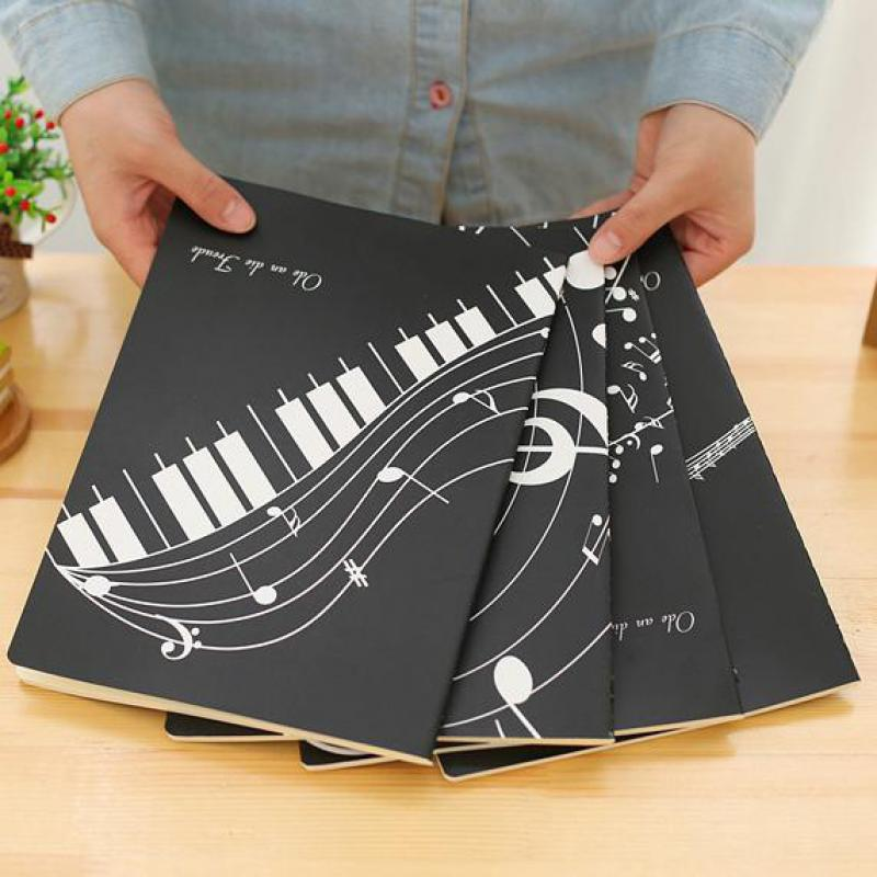 Creative Professional Music Manuscript Paper Musical Notation Piano Exercise Book Staff Song Writing Notebook School Stationery