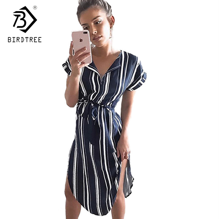 2018 New Arrival Summer Dresses Casual V-Neck Elegance Short Sleeve Floral Print With Sash Plus Size 3XL Women Clothing D87303L 1