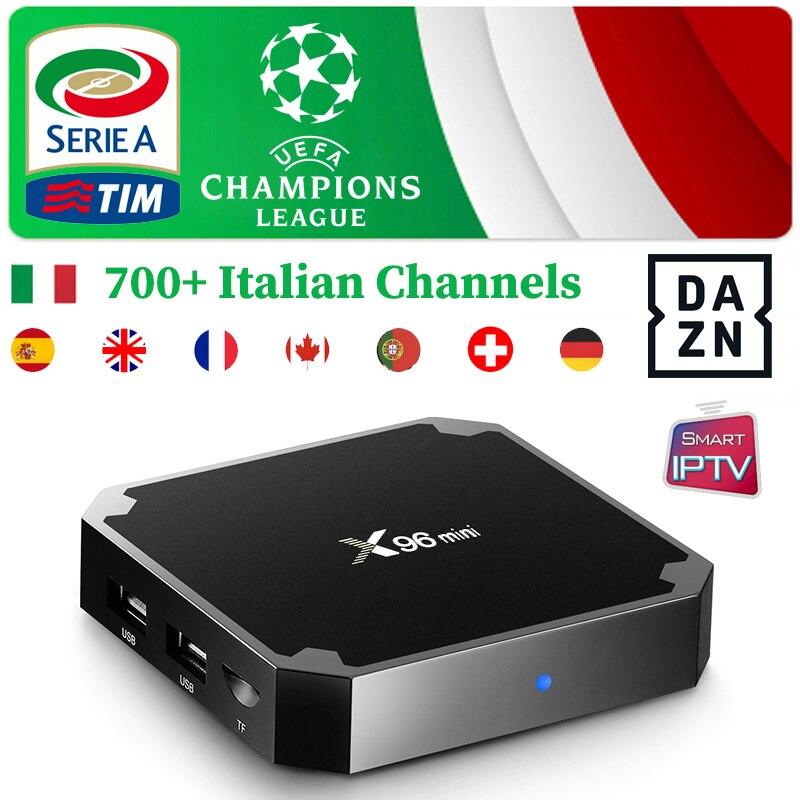 X96 Mini Android Box 1Year Super Italian IPTV M3u Subscription 6000 Live DAZN CINEMA channels for