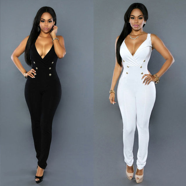 ac4a129a7436 Sexy Women Ladies Clubwear Summer Sleeveless V-neck Playsuit Bodycon Party  Jumpsuit Romper Trousers