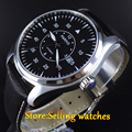Parnis 44mm Black Dial Sapphire crystal Miyota 821A Movement Automatic men watch