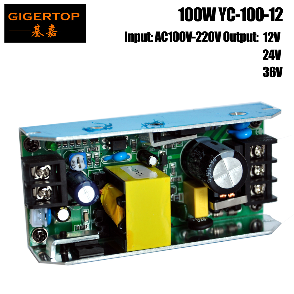YC-100-12 54X3W/54X1W/54X0.75W Stage Led Par Light Power Supply Led Wall Washer Light RGB Power Board 12V/24V/36V Output
