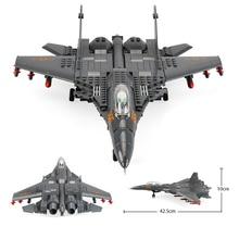 Bausteine Fit Legoingly 285Pcs Military Serie J15 Träger basierend Kämpfer MOC Flugzeug Modell Spielzeug Für Erwachsene Kinder geschenke
