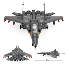 Building Blocks 285Pcs Military Series J15 Carrier based Fighter Assembly MOC Airplane Model Toys For Collection Gifts
