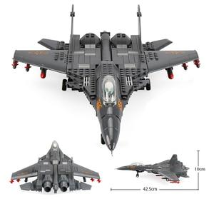 Image 1 - אבני בניין Fit Legoingly 285Pcs צבאי סדרת J15 מבוסס מוביל לוחם MOC מטוס דגם צעצועים למבוגרים ילדים מתנות