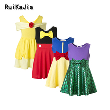 Платья для девочек, vaiana moana, платье принцессы, костюм для девочек, зимняя одежда для девочек, зимние платья в горошек для девочек