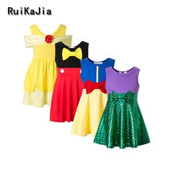 girl dresses vaiana moana dress princess costume girl winter girls clothing winter polka dot dresses for girls
