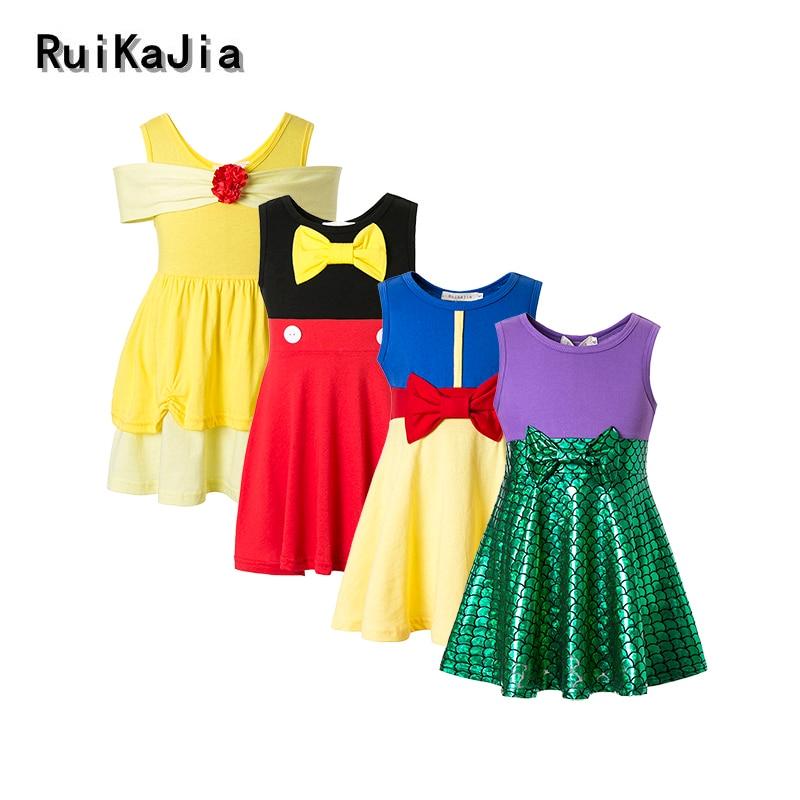 Ragazza abiti vaiana moana vestito costume da principessa ragazza ragazze di inverno abbigliamento invernale polka dot abiti per le ragazze