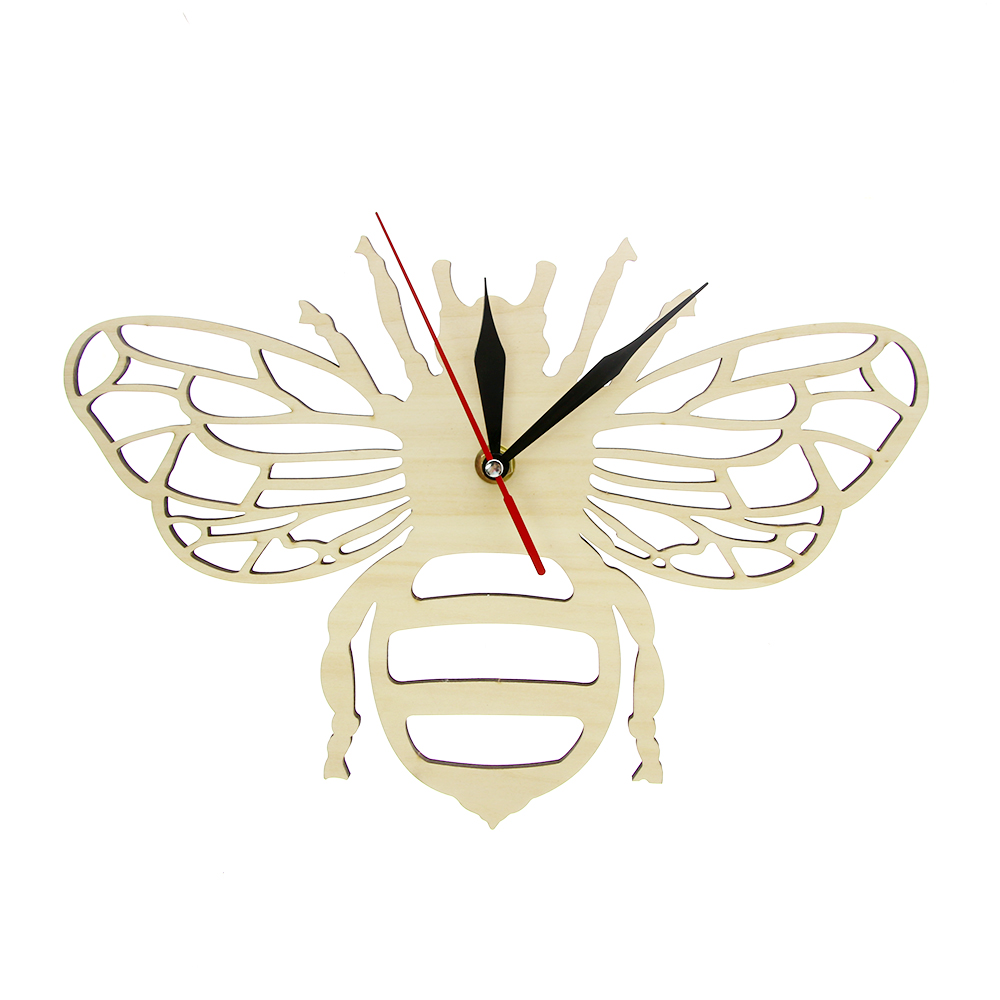 Wooden Honey Bee Wall Clock Perfect For Honey Bee Lovers Eco Friendly Natural Wall Decor Watch Gift For Honey Bee Obsessives