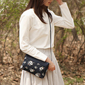 4 Styles Ladies Floral Printed Crossbody Messenger Bag Purse High Quality Cotton Cloth Handbag Shoulder Bag For Women Girls Gift