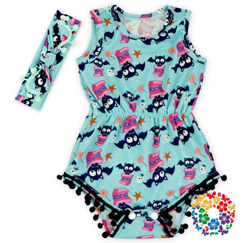 New arrived Fashion baby rompers briefs Newborn clothes baby girl clothing set Toddler suit sleeveless outfits for Halloween