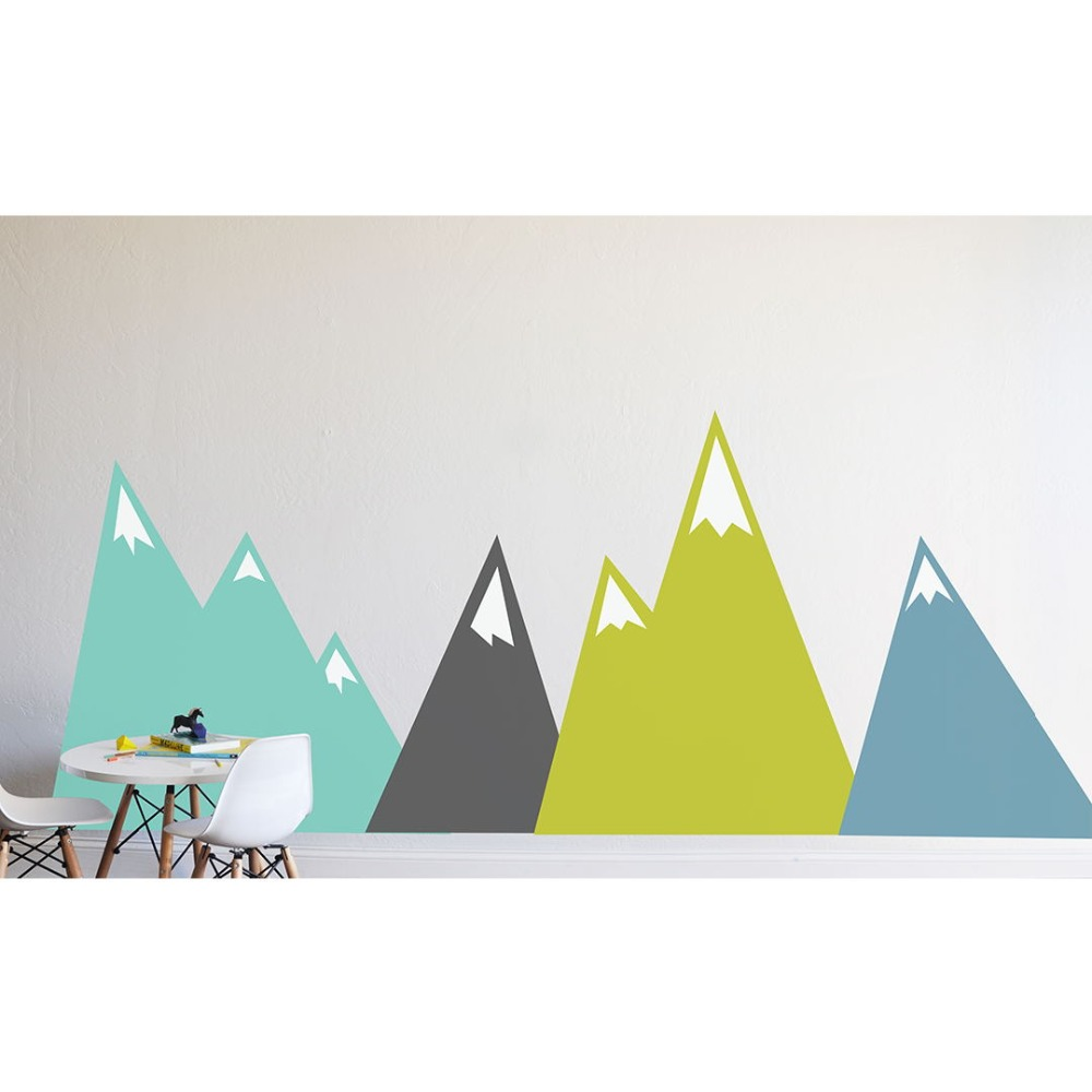 Moving Mountains Decal Wall Stickers For Kids Unique Bedroom Home Decor Art Vinyl DIY Self adhesive