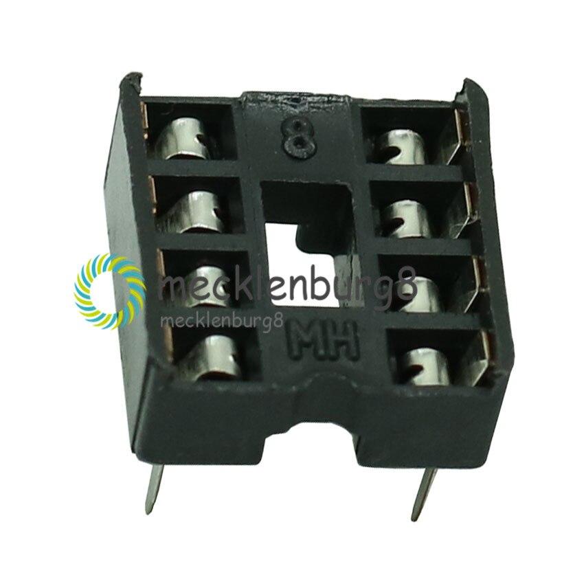 20PCS 8pin DIP IC Sockets Adaptor Solder Type 8 Pin 100% Origin
