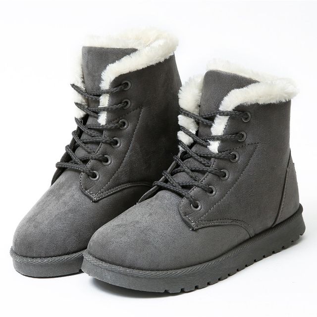 Women Boots Winter Super Warm Snow Boots Women Suede Ankle Boots For Female Winter Shoes Botas Mujer Plush Booties Shoes Woman 4