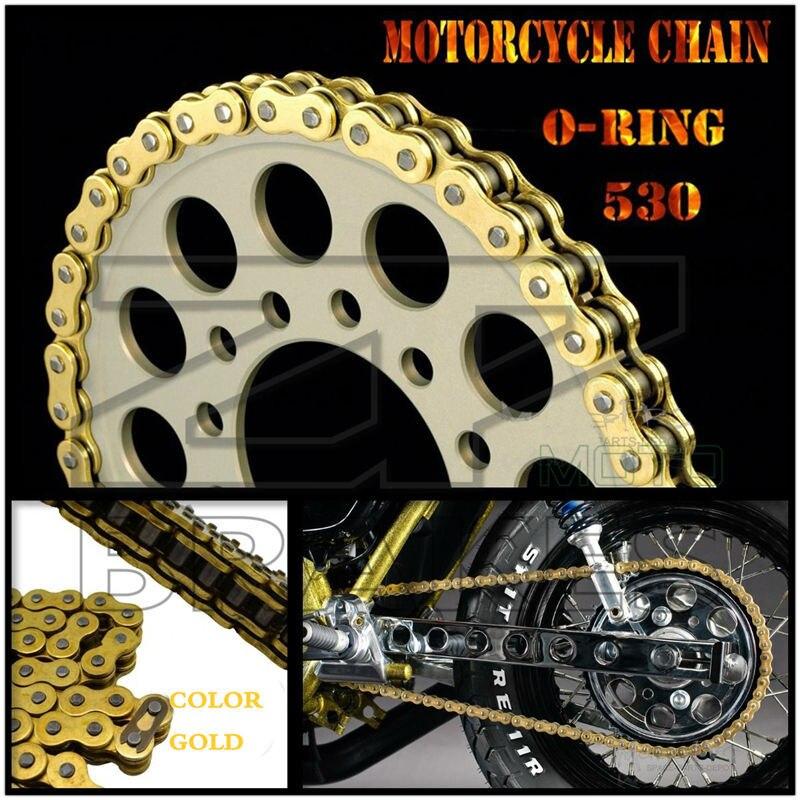 Мотоциклетная приводная цепь золотое уплотнительное кольцо 530 длина 120