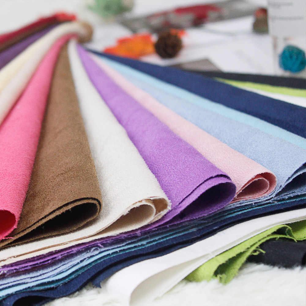150X100 Cm Suède Vlakte Geverfd Effen Kleur Voor Maken Kussenhoes Tafelkleed Sofa Cover Gordijn Schoenen zak Diy Doys