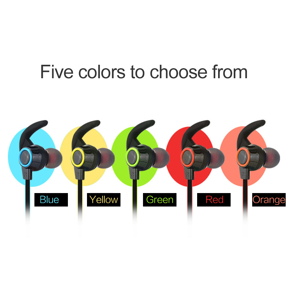 Wireless Headphone Bluetooth IPX4 Waterproof Earbuds Headset Stereo Music Earphones with Microphone for iPhone/Android Phones 4