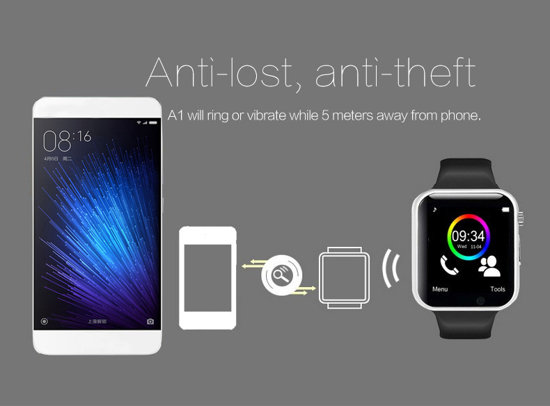 A1 WristWatch Bluetooth Smart Watch 0045