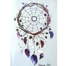 Fashion 21 X 15 CM Waterproof Hot Temporary Tattoo Stickers Simple Beautiful Dreamcatcher