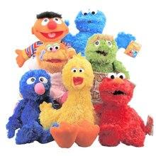 8styles 27-40cm Cartoon Anime Sesame Street Elmo Oscar Cookie Grover Zoe Ernie Big Bird Stuffed Plush Toy Doll Children Gift