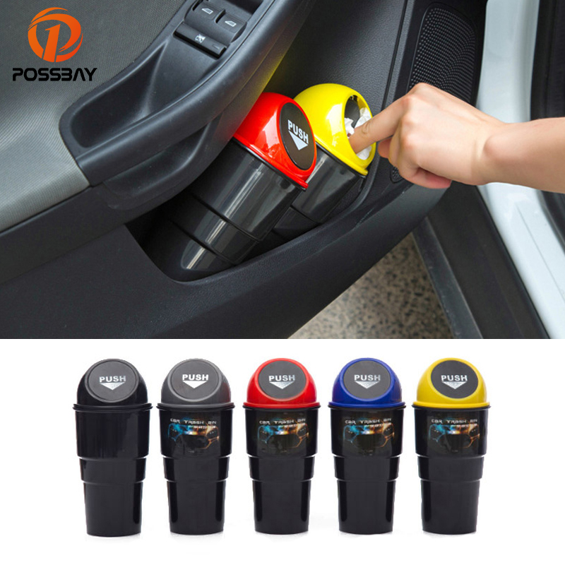 Universal Mini Car Dustbin Rubbish Trash Can Garbage Box