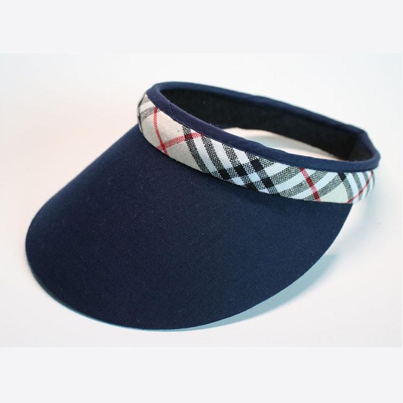 New Fashion Natural Linen Clip Men And Women Sun Visor Hat -2701