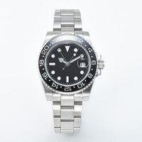 automatic Men's GMT Watch 40mm Black Sterile Dial Sapphire Glass crystal four colors Bezel Automatic movement Clock L40 548