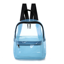Female Fashion Solid Color Small Clear Transparent Women Backpacks PVC Jelly Mini Teenage Girls Student Schoolbag Shoulder Bags