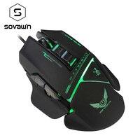 Souris de jeu pour PC Jeux Souris 3200 DPI 7 Boutons Breathe LED Optique Filaire Ordinateur portable Gamer Mause Avec 3D Molette de défilement