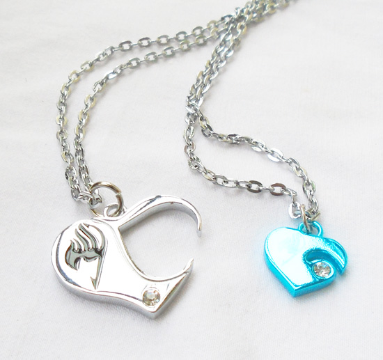 Fairy tail necklace anime natsulucy heart style tub combination fairy tail necklace anime natsulucy heart style tub combination necklaces and pendants for girls aloadofball Image collections
