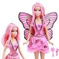 Edição limitada Original rosa fada borboleta boneca / com asa de saia Outfit acessórios para boneca Barbie