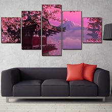 Cherry blossoms Landscape Decor Painting HD Printed Picture Paintings Canvas Wall Art Home