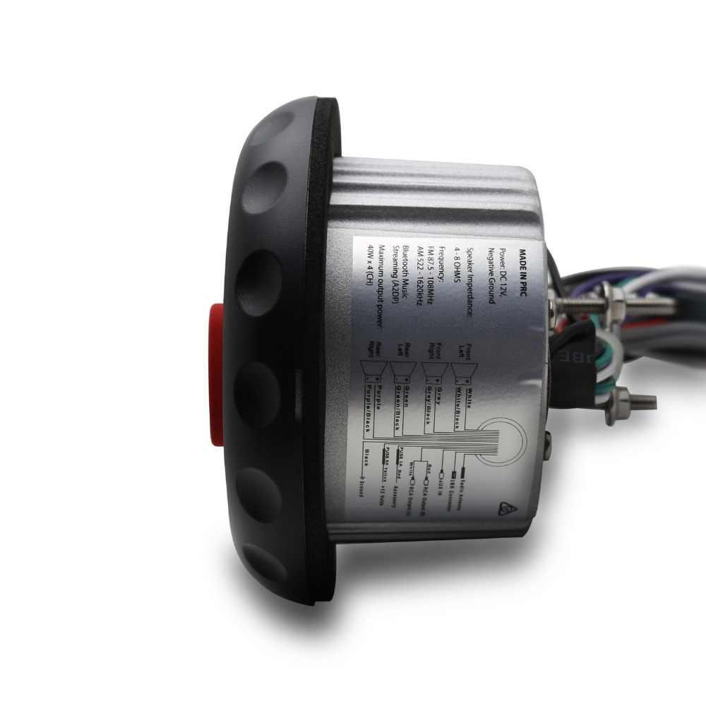 マリン Bluetooth ステレオ防水ラジオ FM Am 受信機ボートオートバイ USB MP3 4 インチゲージプレーヤーボートスパ UTV ATV 車