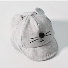 New Baby Hat with Cartoon Cat design Kids Baseball Hat Boy and Girls Sun Hat Summer Cotton Mesh Caps Girls Visors GH213