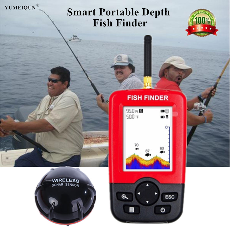 Wireless Sonar Sensor Fish Finder Wireless Fishing for Lake Sea Fishing Sounder Underwater Transducer Smart Portable