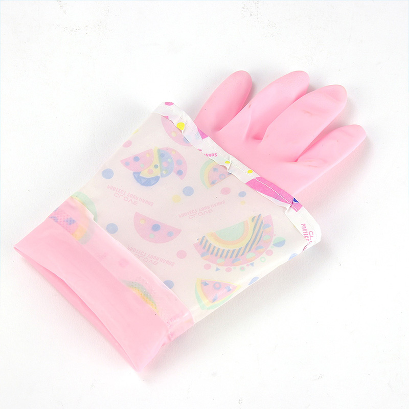1 Pair Kitchen Rubber Cleaning Gloves Durable Household Dish Washing Gloves Kitchen Laundry Cleaning Tools Garden Gloves in Household Gloves from Home Garden