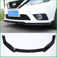 Car Styling For NISSAN SENTRA Sylphy 2016 2017 ABS Front Bumper Diffuser Body Kit Lower Grille Protector Plate Lip Cover Trim msdtoys s6 lower body cover black