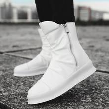 De los hombres de alta arriba zapatillas de deporte de primavera y otoño de  tobillo botas de moda botas Martin botas baile hip . 84d2061ee6a