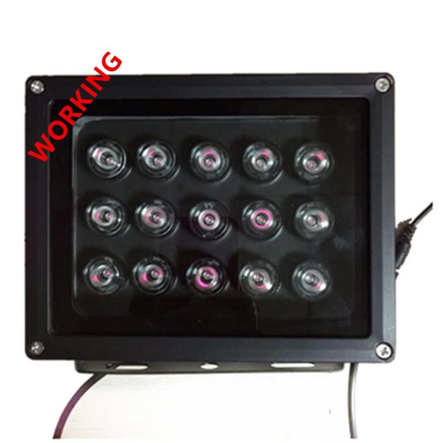 1pcs infrared 15 high power IR LED illuminator Infrared LED light CCTV Camera fill light 850nm array led 100M waterproof
